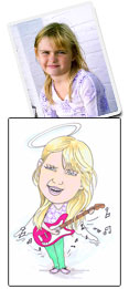 Rock Angel caricature