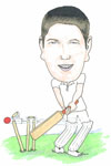 Cricket caricature