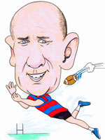Rugby colour sporting caricature